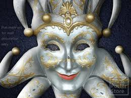 Decorative Venetian Wall Masks Second Life Marketplace Silver And Gold JESTER Venetian MASK 94