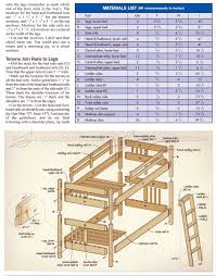 mission style bunk bed plans woodarchivist outdoor wood bench plans free
