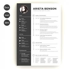 create a modern resume template with word template creative resume template word free download