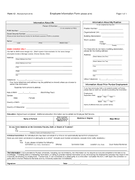 General Employee Information Form 3 Free Templates In Pdf Word