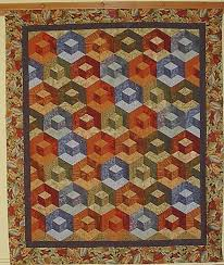 CLASSES - Sara Nephews pattern Honeycomb Waffle is found in her ... & CLASSES - Sara Nephews pattern Honeycomb Waffle is found in her book Big  Book of Building Block Quilts. The three dimensional effect is formed by  using ... Adamdwight.com