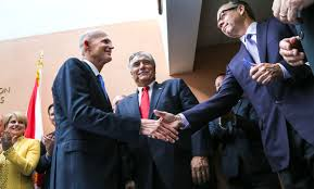foley helps bring astros and nationals to new west palm facility governor rick scott shakes hands art fuccillo center general partner of the washington nationals and houston astros owner jim crane right after