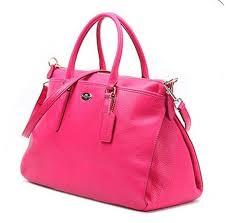 coach morgan pebbled leather handbag satchel shoulder bag f35185 ruby pink for