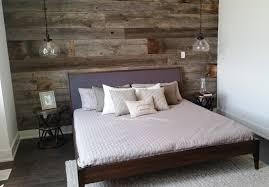 master bedroom feature wall: barnboardstore kenmorehomesfeaturewall barnboardstore