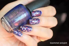 Nail Art │ Irregular dots on OPI Turn on the Northern lights ...