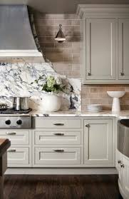 Light Gray Cabinets Kitchen Lucy And Company The Marble Backsplash