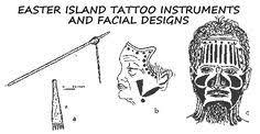 <b>Easter</b> Island tattoo instruments and facial tattoos | Island tattoo ...