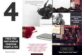 Free Design Templates For Instagram 4 Free Psd Instagram Fashion Templates Creativetacos