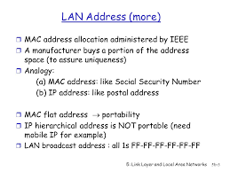LAN Technologies MAC protocols used in LANs, to control access to ...
