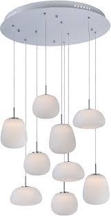 wonderful white hanging light fixtures et2 e21127 11wt puffs contemporary matte white led multi hanging