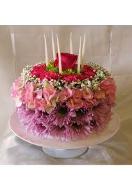 Have Your Cake But Dont Eat It Birthday Cake Made Of Flowers