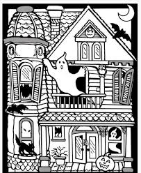 Kids get to color and then play! Scary Haunted House Coloring Pages Download And Print For Free Coloring Home