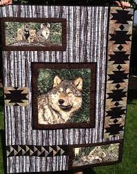 Best 25+ Fabric panels ideas on Pinterest | Laundry bags, Fabric ... & Wolf Song Panel Quilt. Great way to use a fabric panel in a quilt. Adamdwight.com