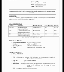 Charming Bcom Resume Format Freshers Images Example Resume And