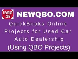 Quickbooks Online Projects For Used Car Auto Dealership