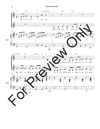 Color My World Unison Two Part By Carol T J W Pepper Sheet Music