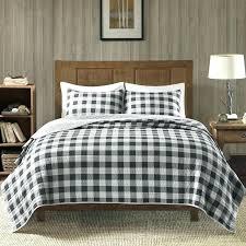black and white buffalo check bedding cotton 3 piece quilt set q
