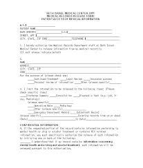 Medical Release Form Sample