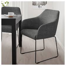 Tossberg Chair Metal Black Gray Ikea