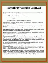 Investment Agreement Templates Project Investment Contract Template Wordstemplates Pinterest
