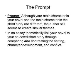 the prompt prompt although your main character in your novel and  the prompt prompt although your main character in your novel and the main character in