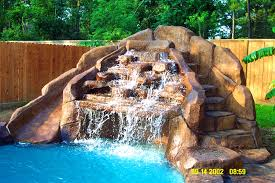 inground pools with waterfalls and hot tubs. Bedroom, Entrancing Custom Naural Form Pool Rock Waterfall Water Feature Fire Designs Waterfalls Beeecaccd: Inground Pools With And Hot Tubs