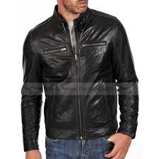 men s designer black leather motorcycle jacket with white stitching men s designer black leather motorcycle