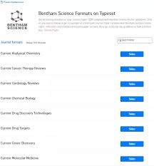 journal paper template where can i find the word template for the bentham science journals