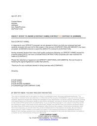 Letter Of Understanding Template Word Awarding Contract Letter Template Word Pdf By Business