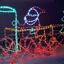 3d Christmas Train Lights 3d Animated Connectable Santa In Train Carriage Led Lighted Display
