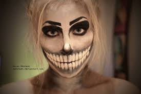 skeleton makeup by lekstedt
