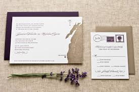 Jessica Nicks Letterpress Map Wedding Invitations