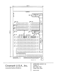 Seating Plan For Cinemark Legacy 24 Valley View Ohio