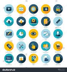 Google Flat Design Icons Set Flat Design Icons Web Design Stock Vector Royalty Free