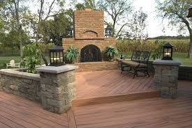 how to build an outdoor fireplace on a deck multi level deck with outdoor fireplace build