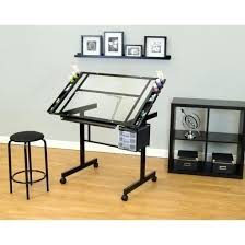 nervi glass office desk. Glass Office Desk Ideas Using Rectangular Transparent Drafting With Black Metal . Nervi