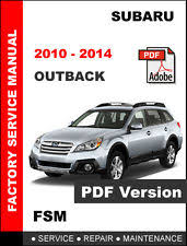 subaru outback service manual 2010 2014 subaru outback ultimate service repair fsm manual wiring diagram