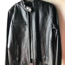 las leather coat