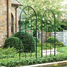 Small Picture Metal Garden Trellis Arch Black Steel Vine Rose Plant Support 27