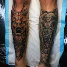 80 Shin Tetování Pro Muže Masculine Dolní Nohy Design Nápady
