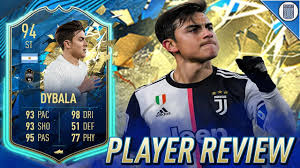 94 TEAM OF THE SEASON SO FAR DYBALA PLAYER REVIEW! TOTSSF PAULO DYBALA - FIFA  20 ULTIMATE TEAM - YouTube