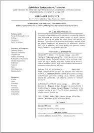 ... Ophthalmic Technician Cover Letter 11 Ophthalmic Technician Resume ...