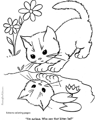 20 kittens coloring pages