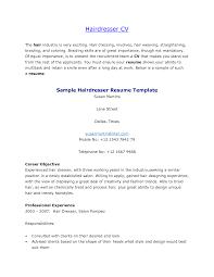 Cover Letter Hairdresser Resume Sample Hairdresser Assistant