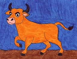 Great for stickers banners cards magazines. How To Draw An Ox Art Projects For Kids