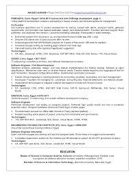 Resume Asp Net Professional Extraordinary Net Developer Resume