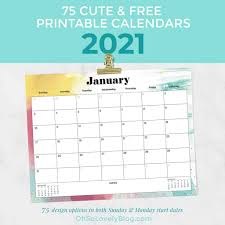 Easy to write in notes of the monthly a printable 2021 annual blank calendar template is available in landscape format. Free 2021 Calendars 75 Beautiful Designs To Choose From