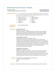Medical Secretary Resume Resume Cv Cover Letter