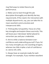 Skills And Strengths List Top 10 Job Strength Examples