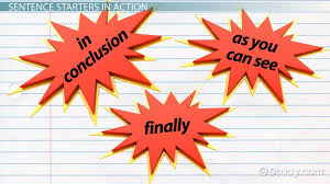 conclusion paragraph starters video lesson transcript com